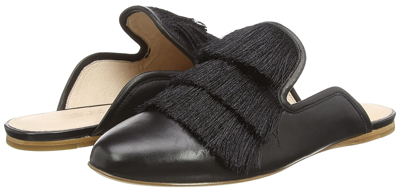 Rachel Zoe Damen Kaius Flat Fringe Pantoffeln, Schwarz (Black 001), 38 EU