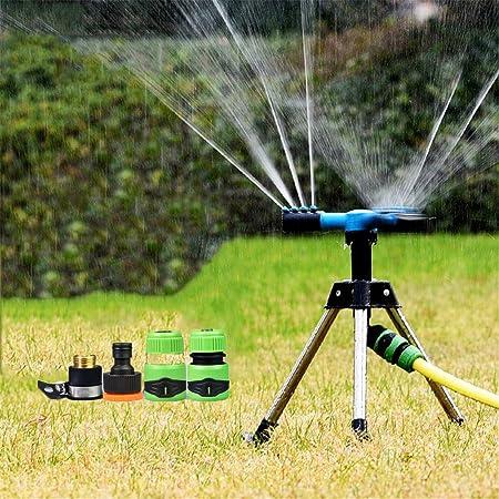 Aspersores De Riego Automatico Rotación 360 °, Trípode Aspersor Flexible para Jardín: Amazon.es: Hogar
