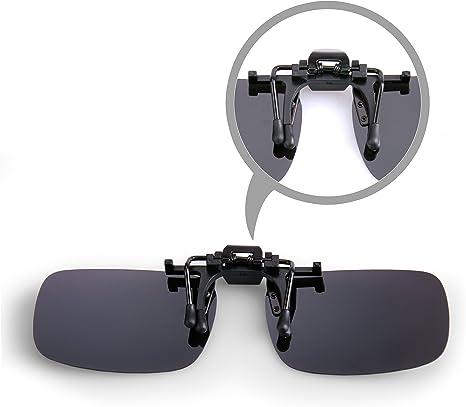 Splaks 2 pack Copriobiettivo a Lente Rettangolare Senza Cornice Polarizzata .Adotto per Outdoor Sport Ciclismo Clip su Occhiali da Sole Polarizzati Rivestimenti a Specchio