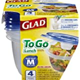 Glad Food Storage Containers - To Go Lunch Containers - 32 Ounce - 4 Containers