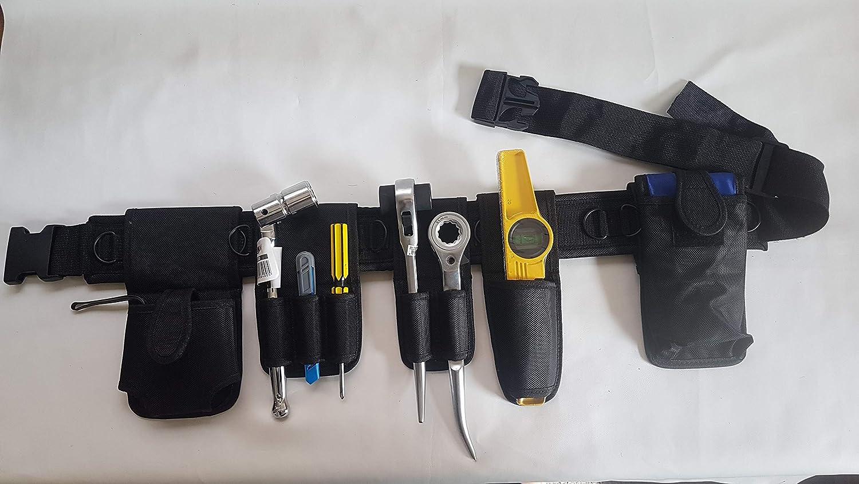 8 herramientas en 1 Cintur/ón de herramientas negro de naylon para andamios