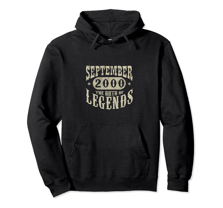 18 Years 18th Birthday September 2000 Birth of Legend Hoodie-Awarplus