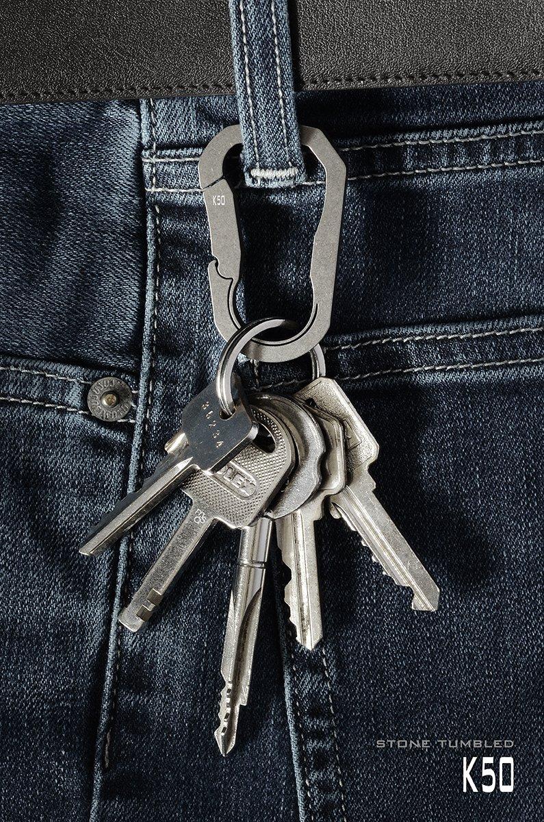 K50 Mas Design Premium Grade 5 Titanium Key Carabiner