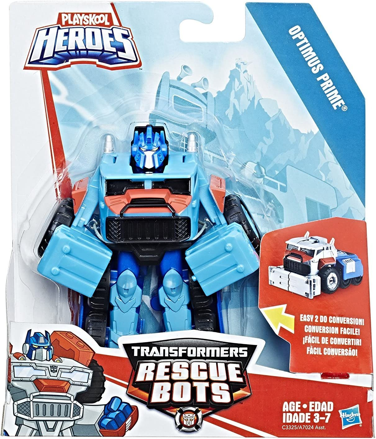 Nuevos Heroes Transformers Rescue Bots Figura de Optimus Prime cepillado por Playskool, g14e6ge4r-ge 4-tew6 W220837: Amazon.es: Juguetes y juegos