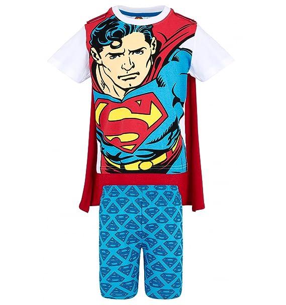 Superman Pijama dos piezas - para niño blanco/azul 10 años