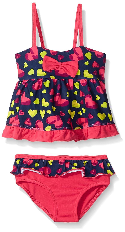 Pink Platinum Girls' Heart Print Tankini Swimsuit 69280