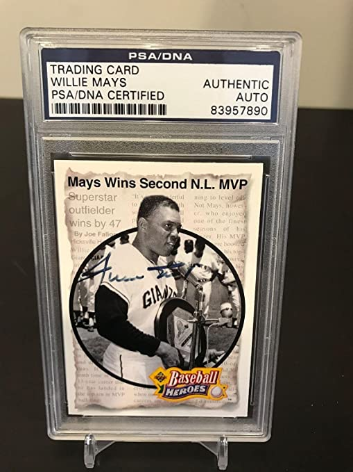 Willie Mays Signed Autographed 1992 Upper Deck Baseball Heroes Card