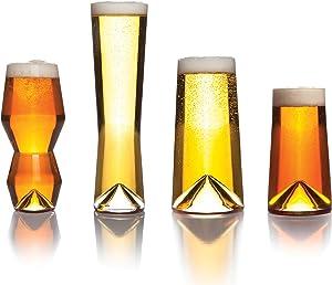 Sempli Monti-Taste Beer Glasses, Set of 4 in Gift Box