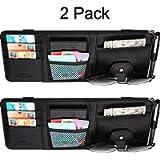 2 Packs Car Sun Visor Organizer, Auto Interior Accessories Storage Pocket Pouch Car Truck Sun Visor Case Bag for Pen CD…