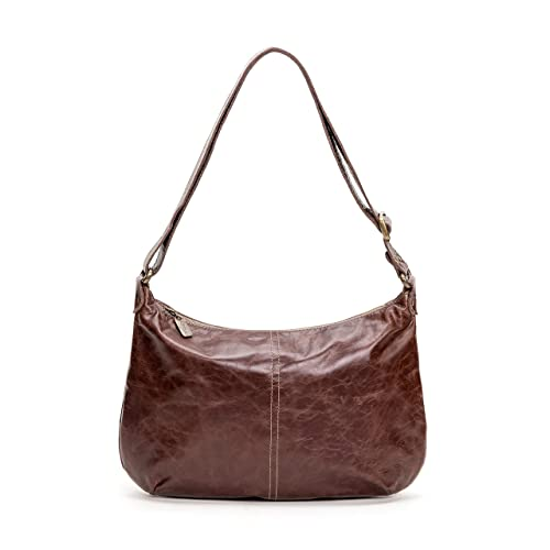 1f54dbeddb13 Image Unavailable. Image not available for. Color  Brown Distressed Italian Leather  Hobo Crossbody Bag