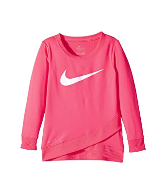 ffdb658f5a NIKE Girls Dri-Fit Sport Essential Crossover Swoosh Long Sleeve Tunic Top  Pullover Shirt Size