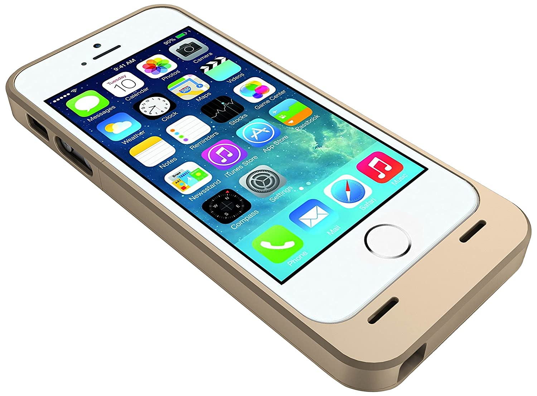timeless design e72cc 7eb9d uNu UNU-DX-05-2300G Power DX MFI Approved 2300mAh External Protective  Battery Case for iPhone 5 - Gold