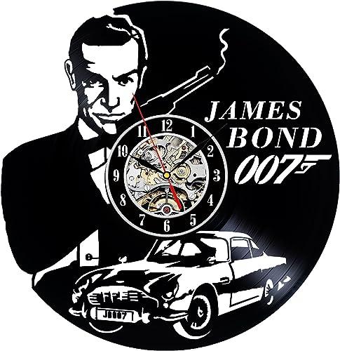 James Bond 007 Decorative Vinyl Record Wall Clock