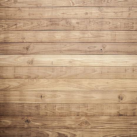 Amazon.com: 10 x 10ft café claro madera telón de fondo para ...