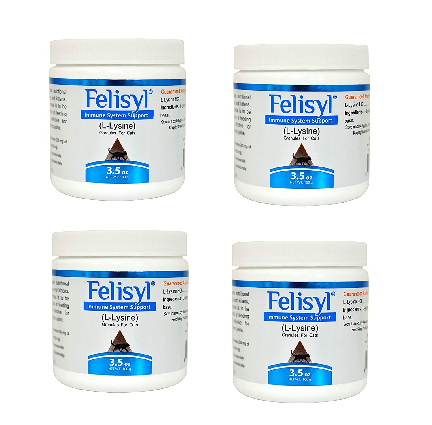 Felisyl Immune System Support Granules – Support Healthy Tissues, Respiratory and Vision for Cats – 3.5 oz