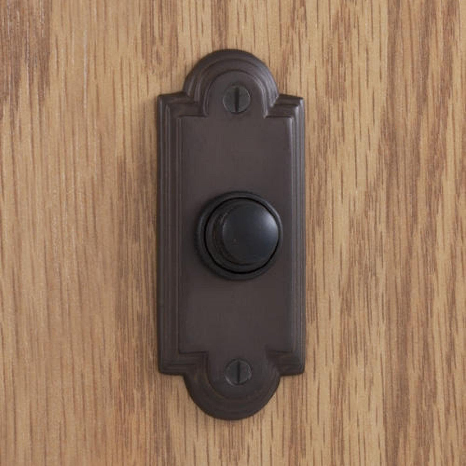 Casa Hardware Williamsburg Style Solid Forged Brass Metal Doorbell with Push Button in Oil Rubbed Bronze Finish by SIGHW