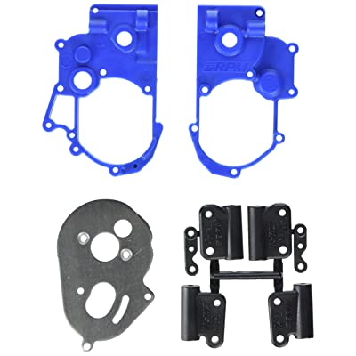 RPM Hybrid Gearbox Housing and Rear Mounts for Traxxas 2WD Electric, Blue: Toys & Games
