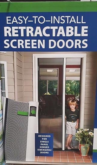 retractable screen door reviews canada larson for french doors costco genius single white kit sierra