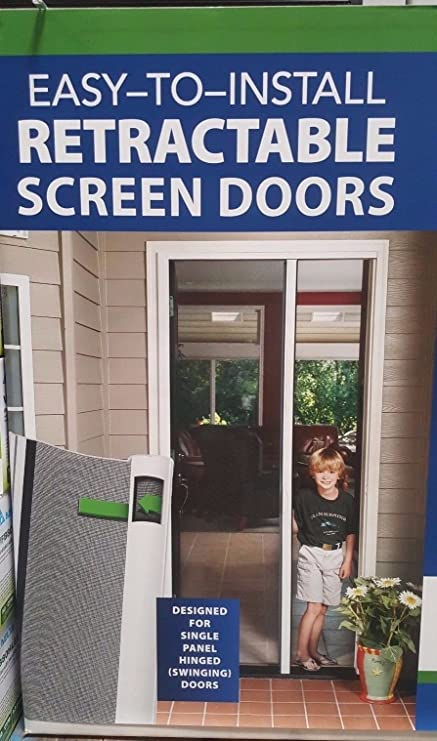 Exceptionnel Genius Single Door White Retractable Screen Door Kit   Sierra