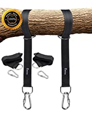 New - Swing and Hammock Straps Hanging Kit - Two 5ft Straps (Holds 2800lbs,), Easy Install for Any Swing or Hammock (T1)