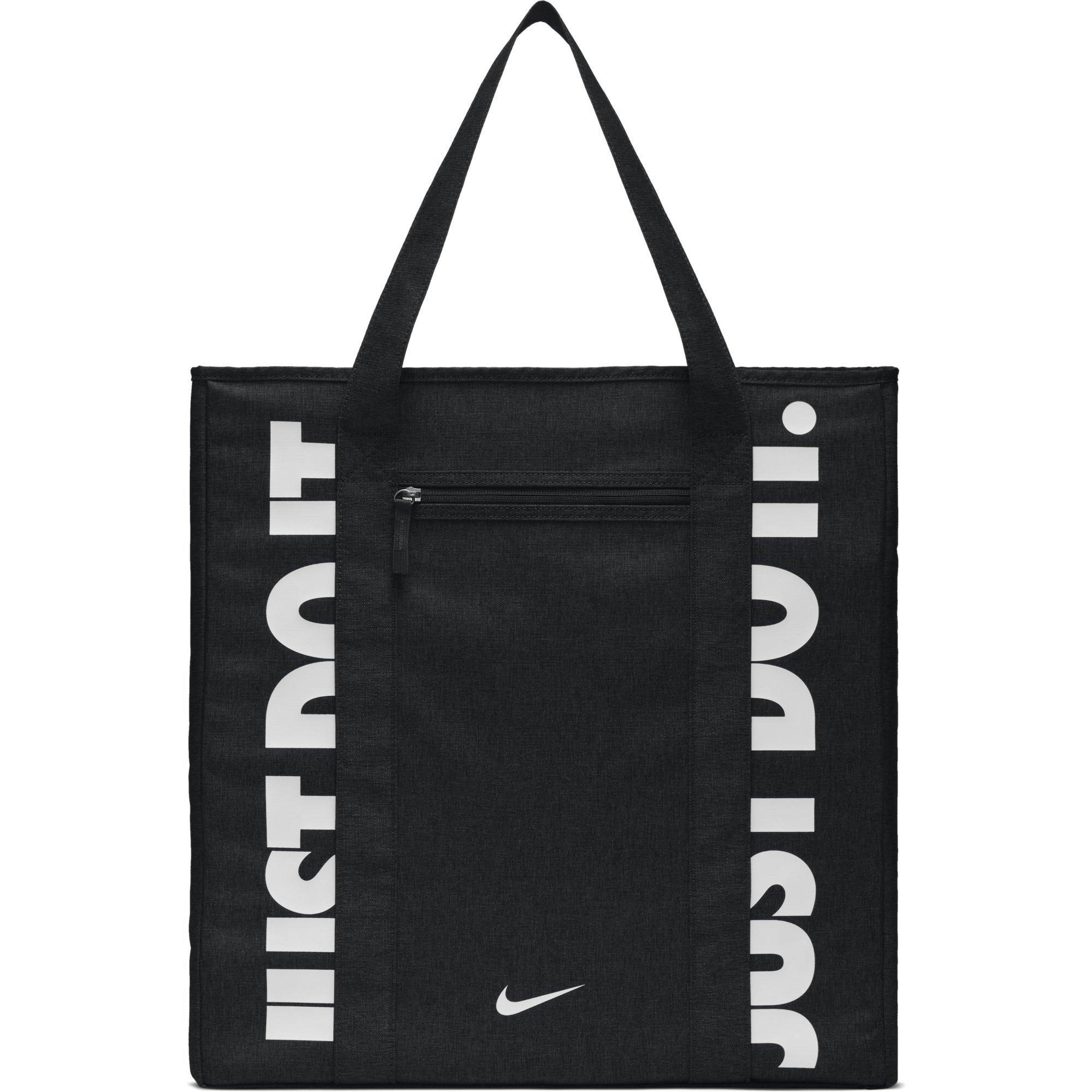 NIKE Gym Women's Training Tote Bag, Black/Black/White, One Size