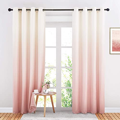 Best window curtain panel: StangH Pink Ombre Curtain Panels