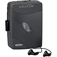 Jensen Portable Compact Lightweight Slim Design Stereo AM/FM Radio Cassette Player