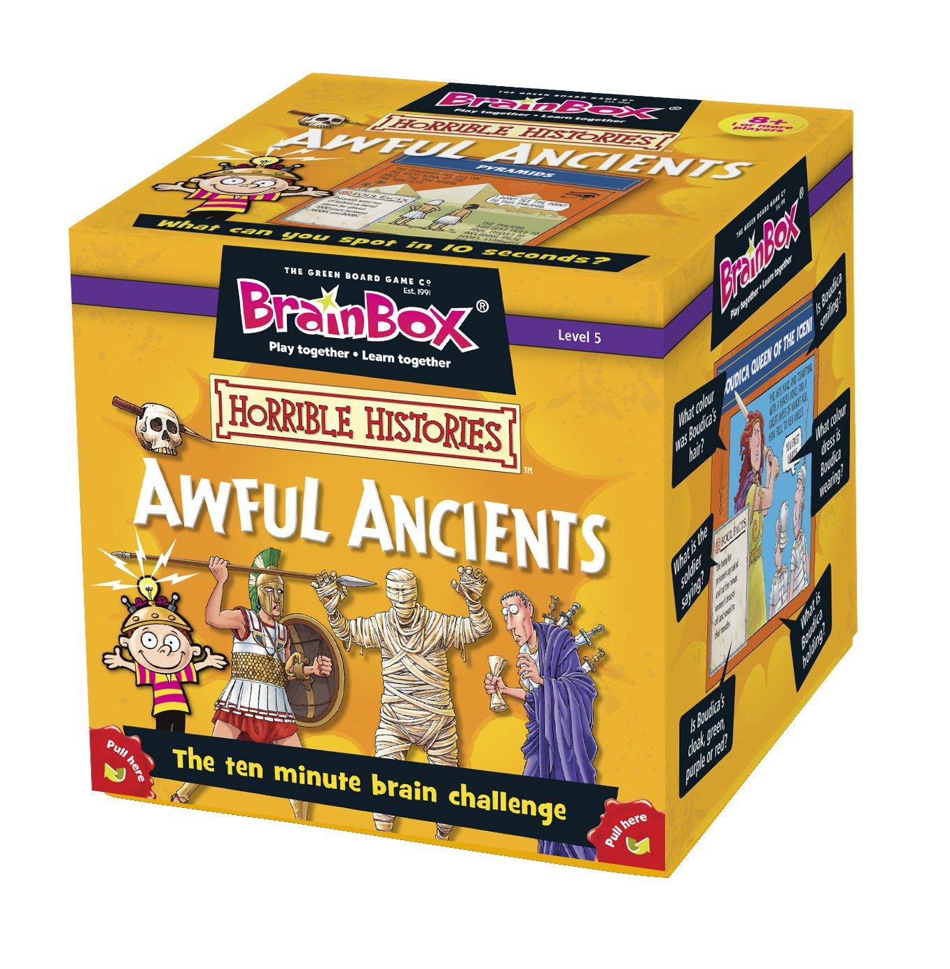 BrainBox - Awful Ancients, juego de mesa en inglés (90025)