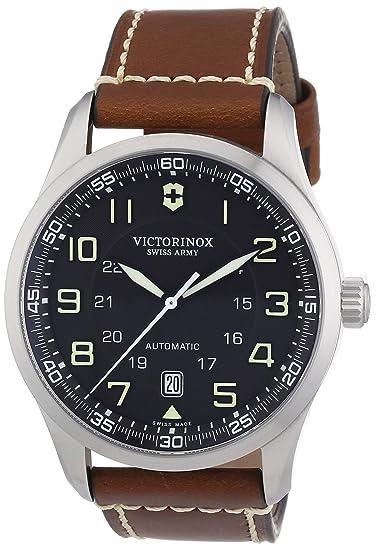 Victorinox Professional 241507 - Reloj analógico automático para hombre, correa de cuero color marrón: Victorinox Swiss Army: Amazon.es: Relojes