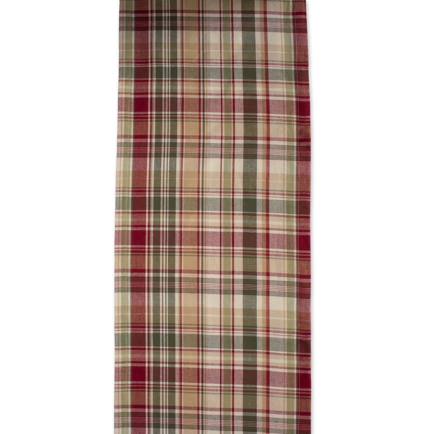 Cabin Plaid 100% Cotton Table Runner (14x108'') by DII (Image #3)