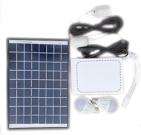 Amazon.com: Sistema de iluminación solar Kit 10 W Panel ...