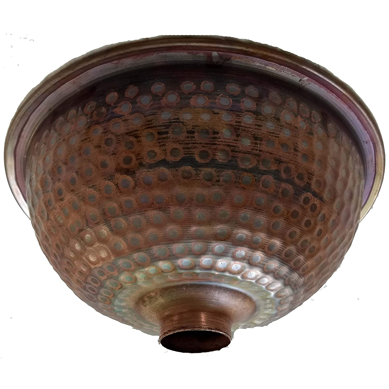 Small Rustic Drop in Copper Bathroom Dome Sink