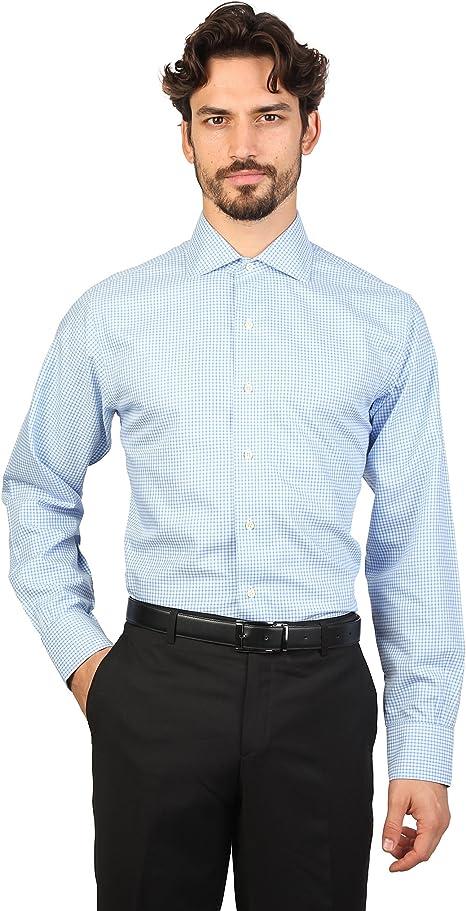 Brooks Brothers - Camisa entallada y cuello ingles caballero hombre (16H - Cuello 42cm/Orquídea): Amazon.es: Ropa y accesorios