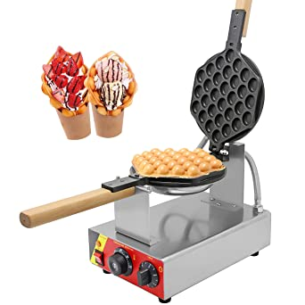 Electric Ice Cream Cone Machine Egg Waffle Roll Maker Nonstick Pan UK