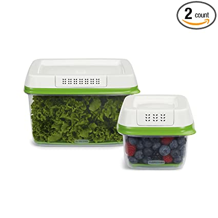 FreshWorks Produce Saver Food Storage Containers, Set Of 4
