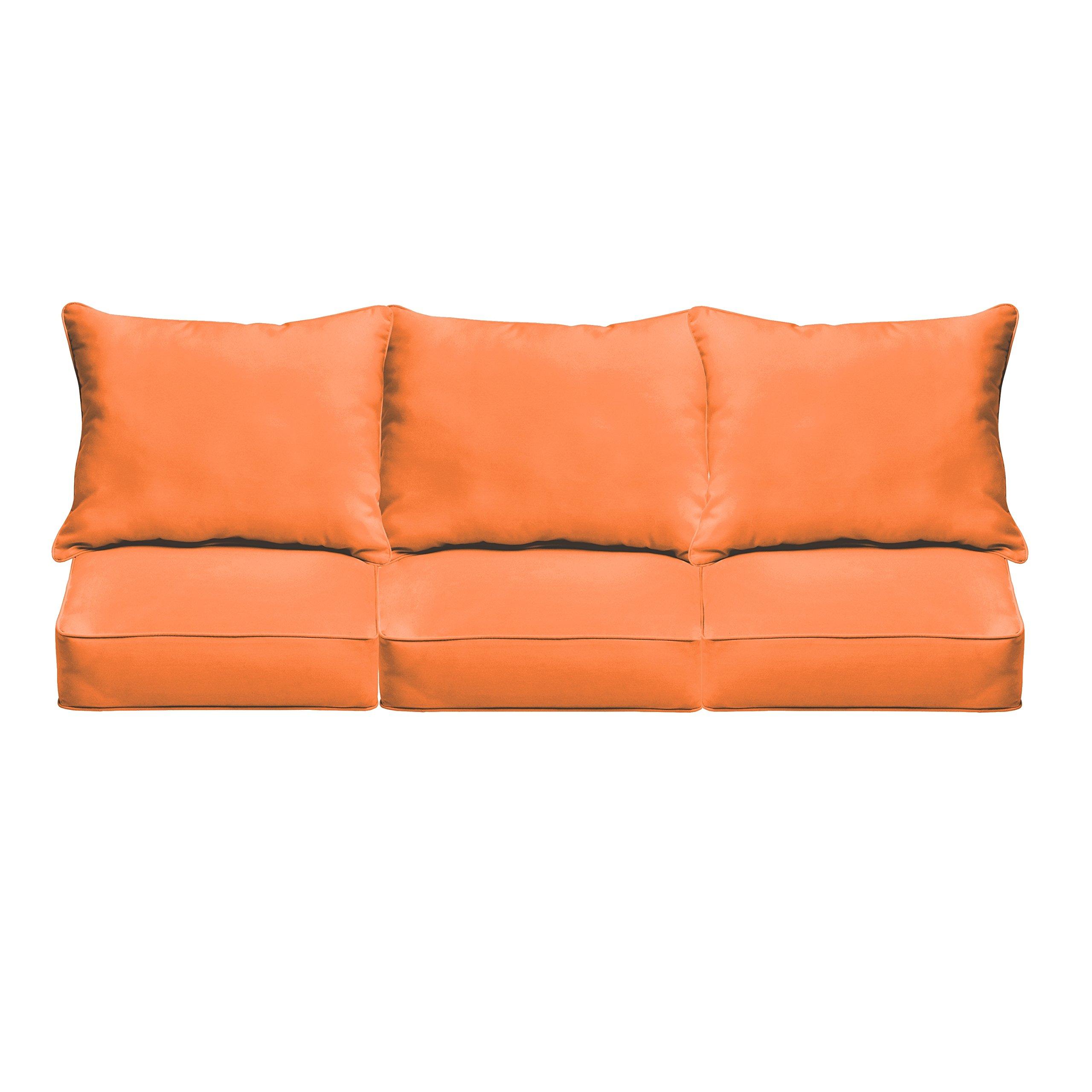 Mozaic AZPCSET4364 Swavelle Corded Outdoor Sofa Set, 23'' x 25'' x 5'', Bright Orange