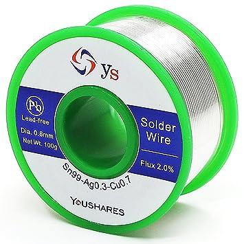 YOUSHARES 0,8 mm bleifrei Löten Draht für elektrische ...