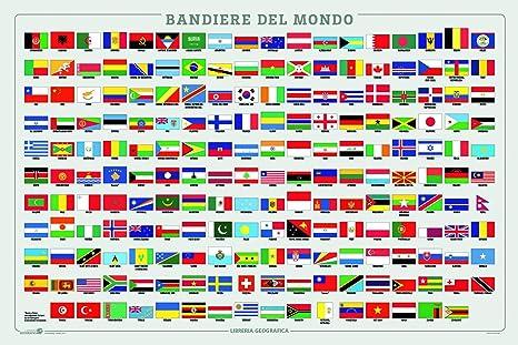Bandiere Del Mondo Geoposter Amazon It Cancelleria E Prodotti Per