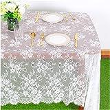 White-Lace-Tablecloth 60x120-Inch EmbroideredLaceTableclothElegantBirthdayTableDecorationNettingLaceTableClothVint