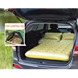 PAVONI SUV Heavy-duty Backseat Car Inflatable Travel Mattress for Camping / Perfect For SUV/RV/Minivan (Gray)With Air Pillow + Air Neck Cushion SET