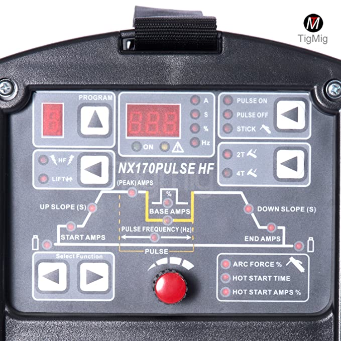 Soldador inversor NX 170 PULS HF, soldadura TIG por arco pulsado, CC, 170 A, digital, 10 programas: Amazon.es: Hogar