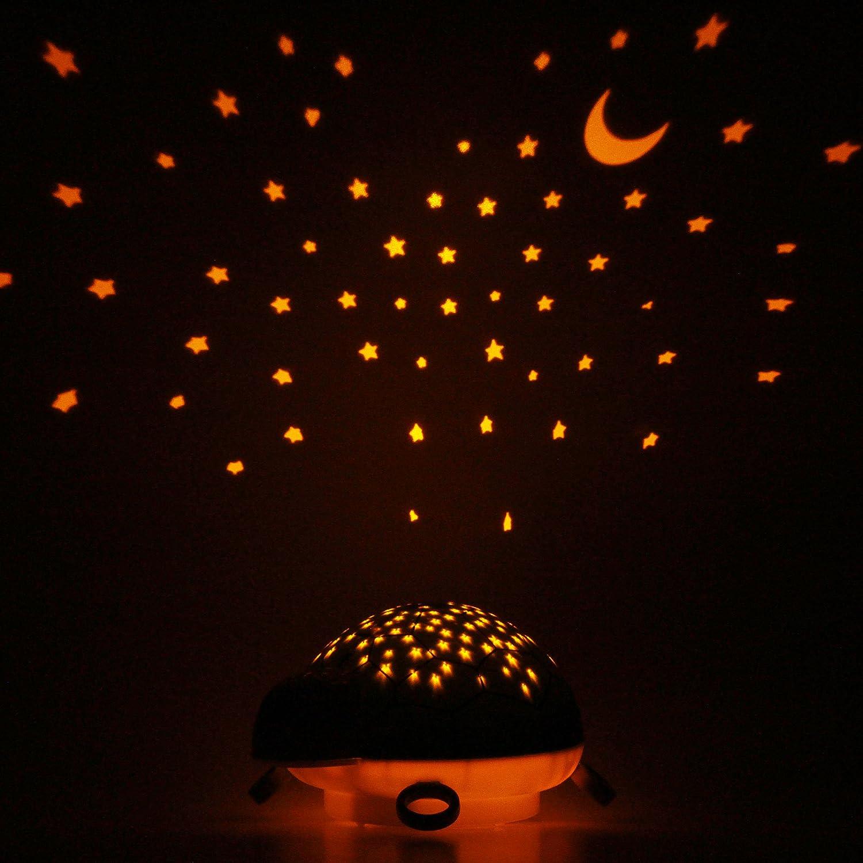 ANSMANN LED Sternenhimmel Projektor Schildkröte - Einschlafhilfe mit ...