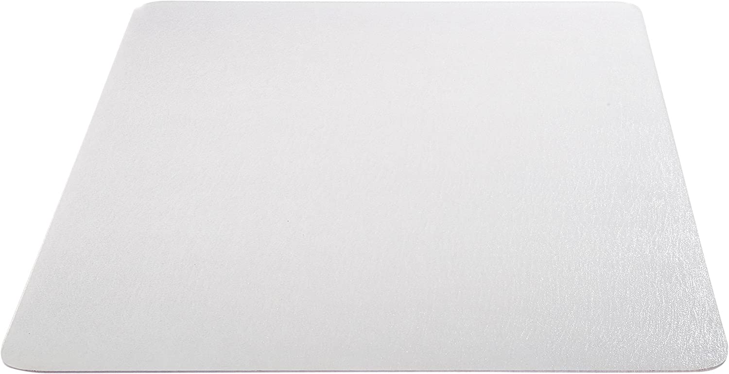 """Deflecto EconoMat Clear Chair Mat, Hard Floor Use, Rectangle, Straight Edge, 46"""" x 60"""", Clear (CM2E442FCOM) : Carpet Chair Mats : Office Products"""
