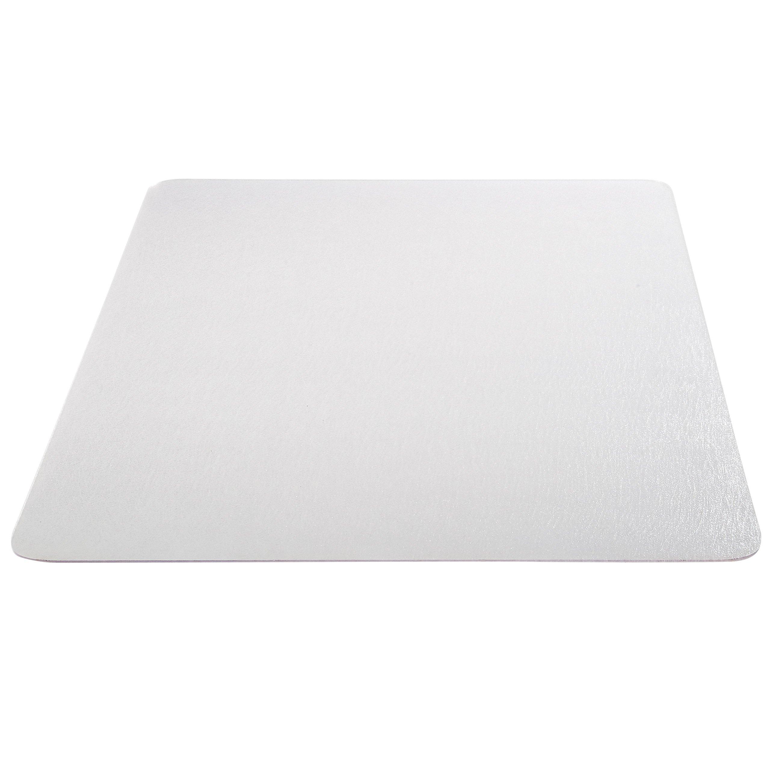 Deflecto EconoMat Clear Chair Mat, Hard Floor Use, Rectangle, Straight Edge, 46'' x 60'', Clear (CM2E442FCOM)