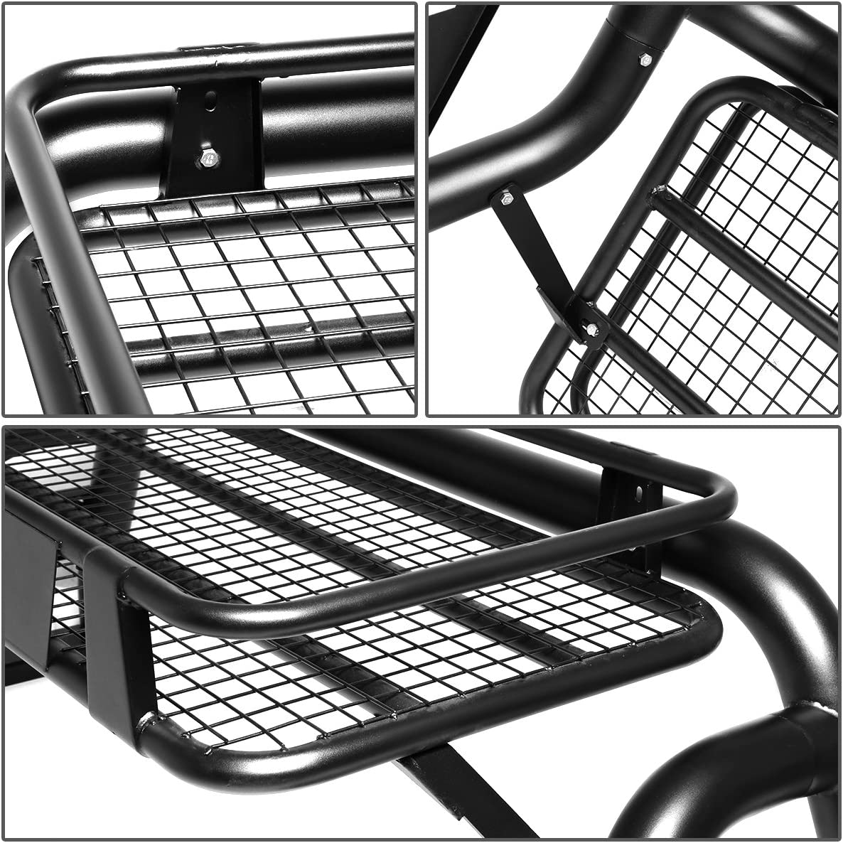 Roof Cargo Rack Assembly DNA Motoring TCRB-001-T2 Aluminum Truck Bed Roll Bar