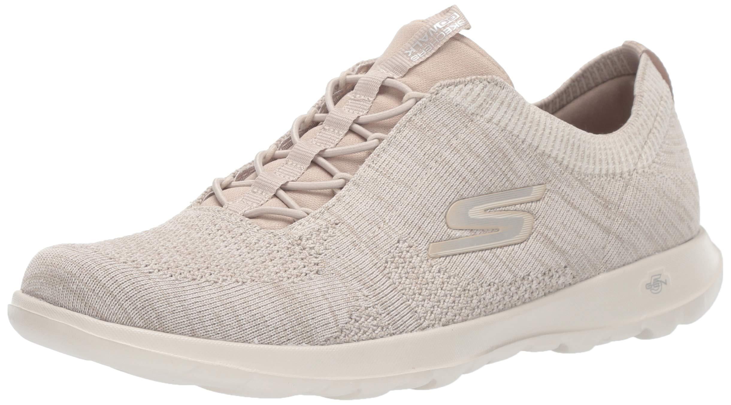 Skechers Women's GO Walk LITE - 15657 Shoe, Taupe, 9.5 M US by Skechers