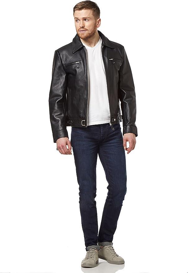 German Luftwaffe Cowhide strong long lasting Biker Motorcycle Style Men/'s Jacket