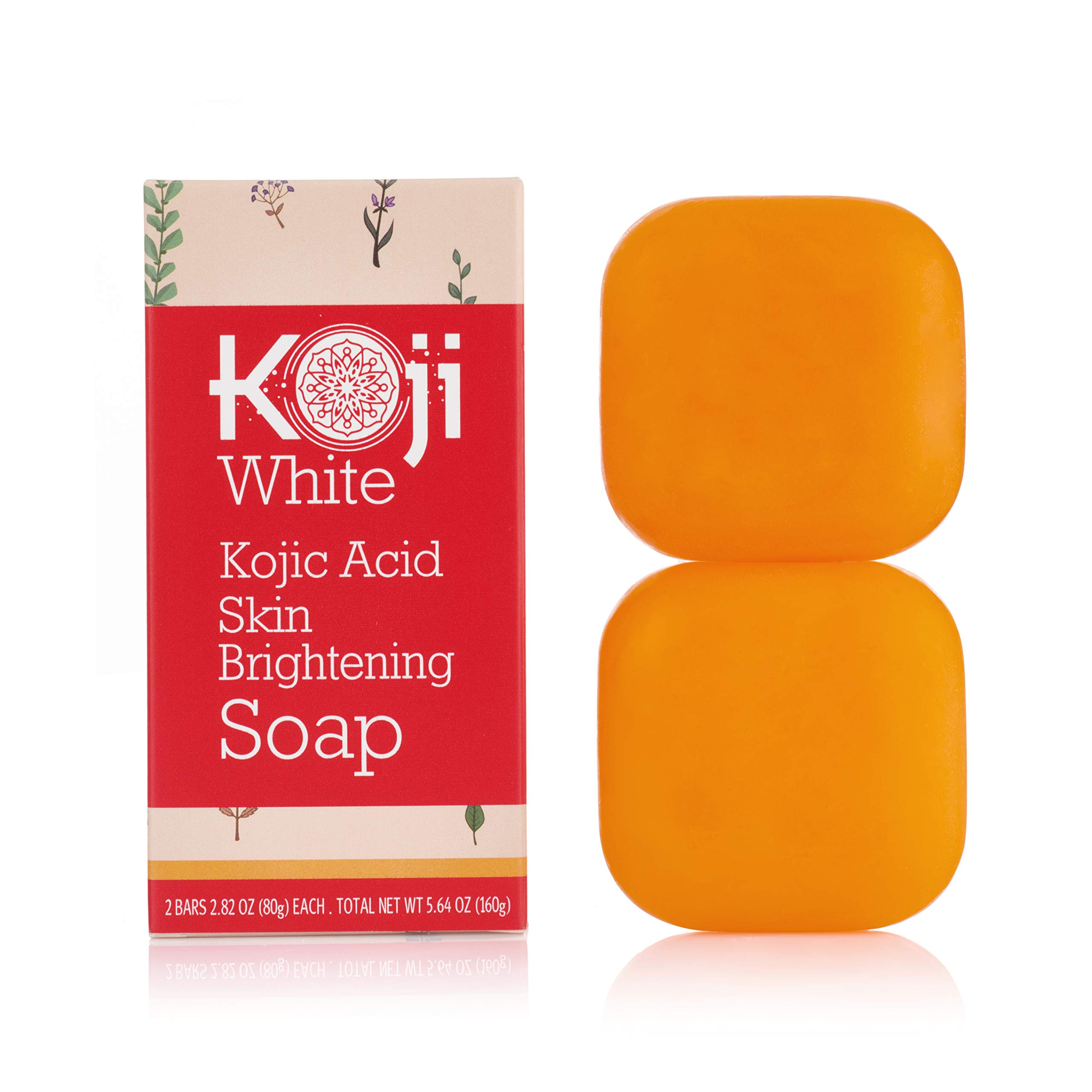 Pure Kojic Acid Skin Brightening Soap for Glowing & Radiance Skin, Dark Spots, Rejuvenate, Uneven Skin Tone (2.82 oz / 2 Bars) | Maximum Strength, SLS-free, Paraben-free - Dermatologist Tested