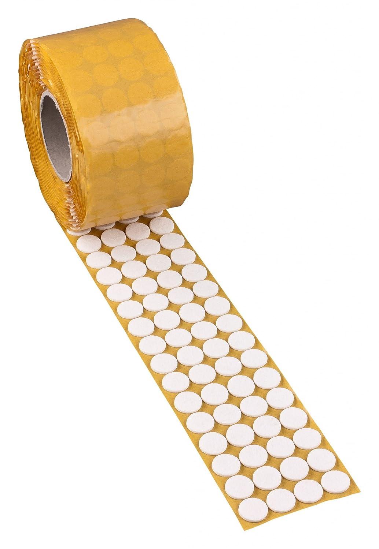 1000x peha® Filzgleiter FIX in weiß oder braun, Selbstklebend; rund Ø 17 - 50 mm, Stärke: 3 mm, Farbe:braun;Größe:Ø 28 mm