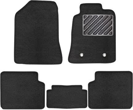 ZECOBER Car Floor Mats Fit For Toyota Corolla 2004-2007 Thickened Fully Custom Tailored Deluxe With Rubber Heel ped Car Floor Mats Set of 5 PCS No-slip Black Carpet
